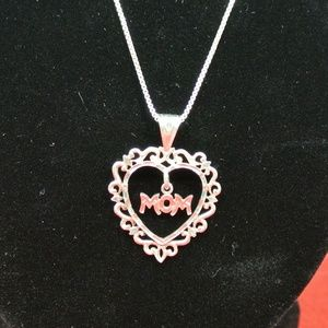 Jewelry - Sterling Silver Mom Heart Necklace